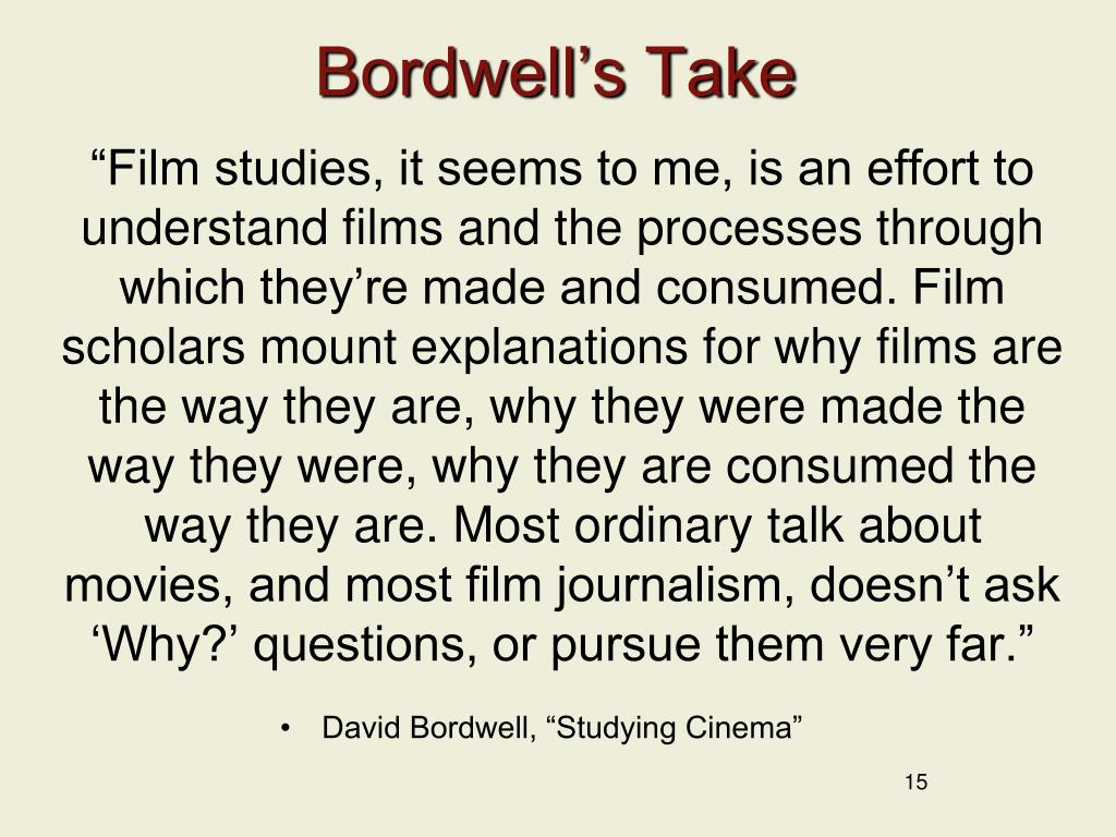 Bordwell's Take