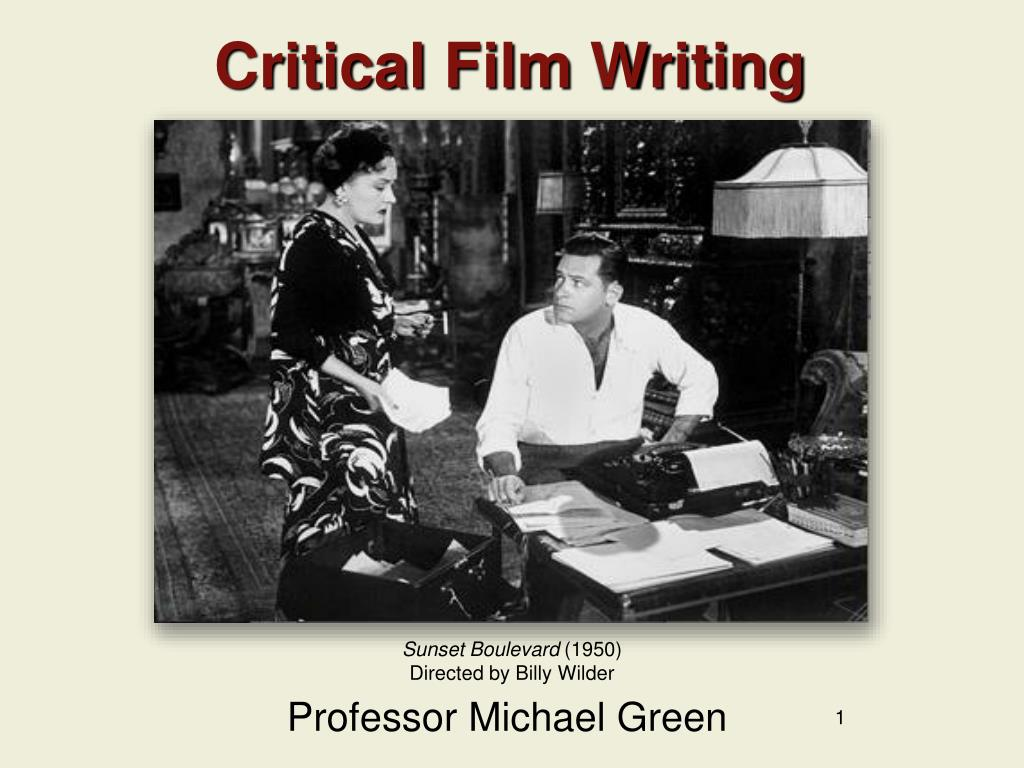 Critical Film Writing