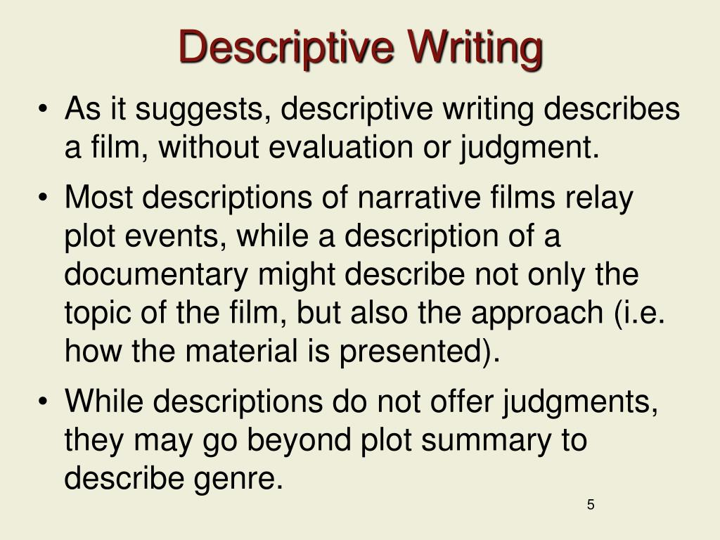 descriptive essay topics for college