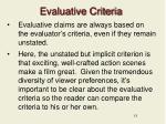 evaluative criteria