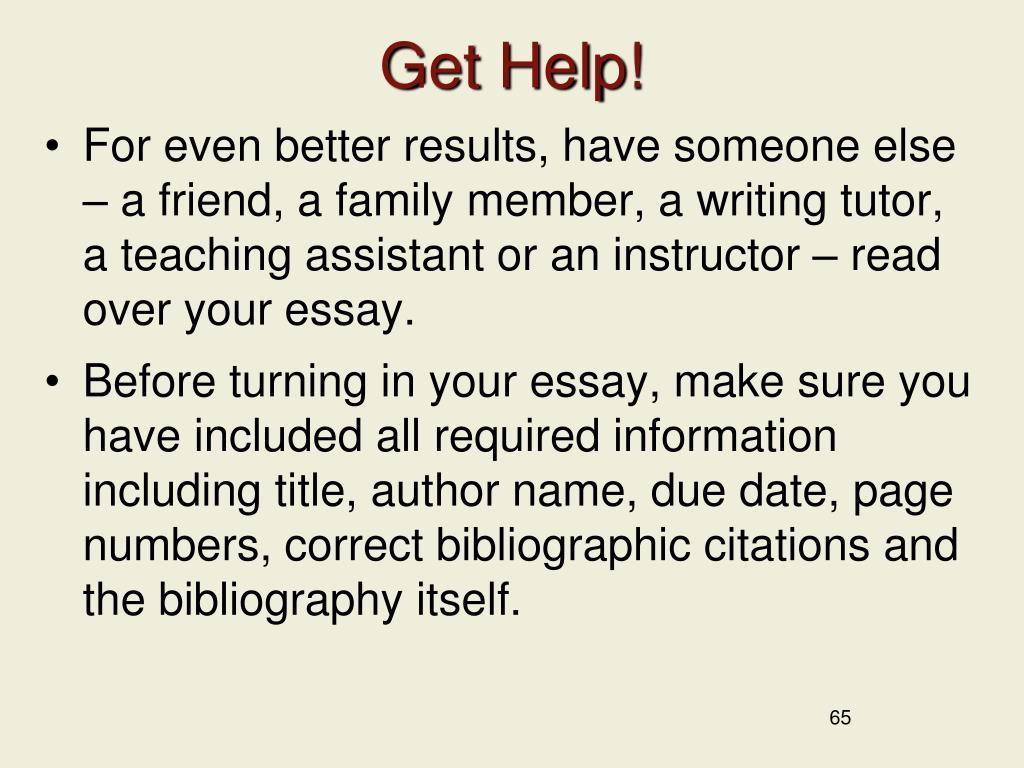 Get Help!