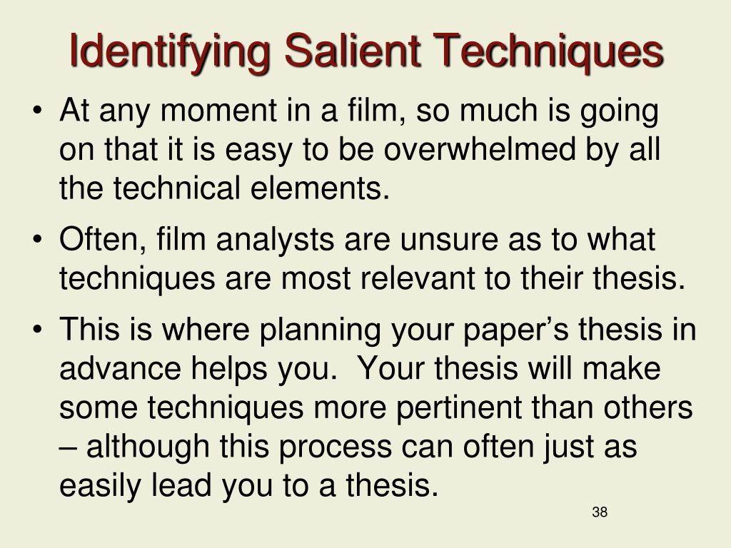 Identifying Salient Techniques