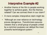interpretive example 2