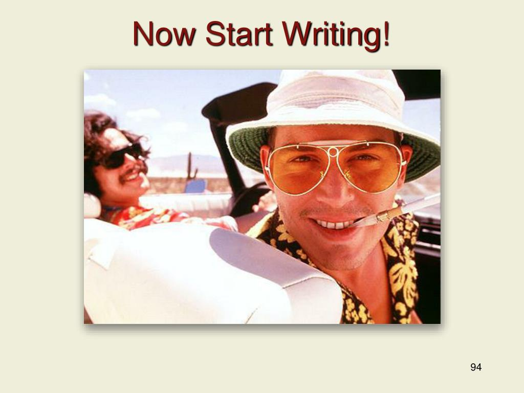 Now Start Writing!
