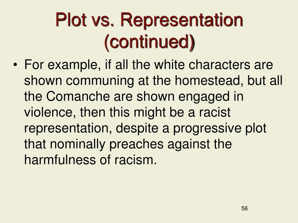 Plot vs. Representation (continued)