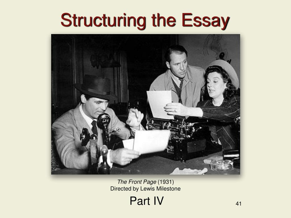 Structuring the Essay