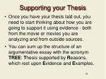 supporting your thesis