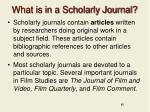 what is in a scholarly journal