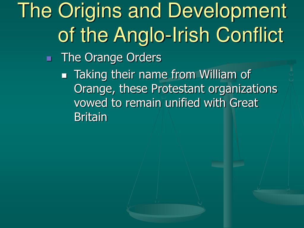 anglo irish conflict