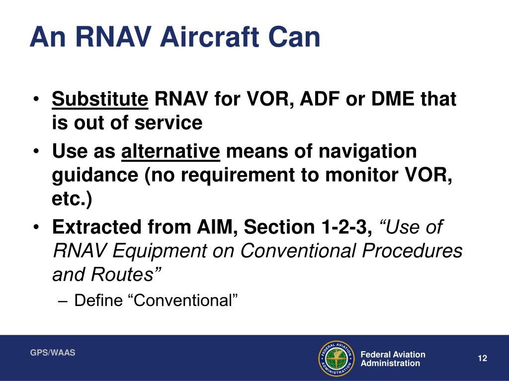 An RNAV Aircraft Can