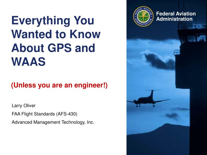 Everything you wanted to know about gps and waas unless you are an engineer l.jpg