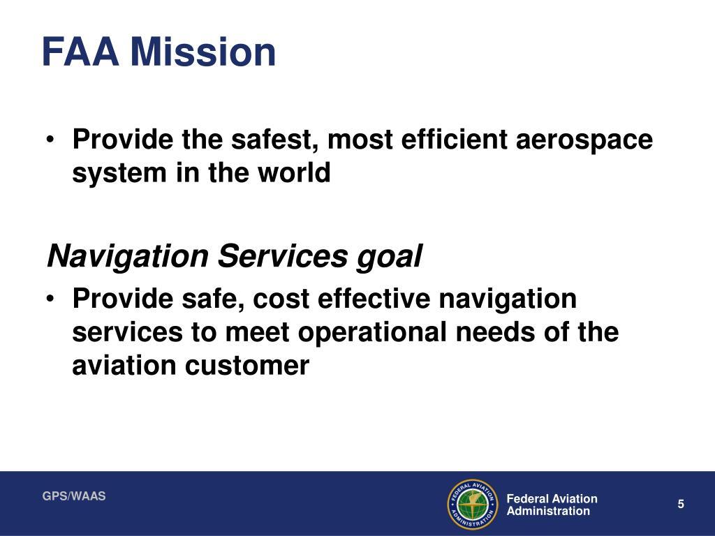 FAA Mission