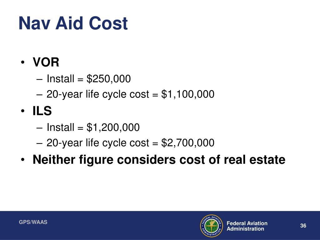 Nav Aid Cost