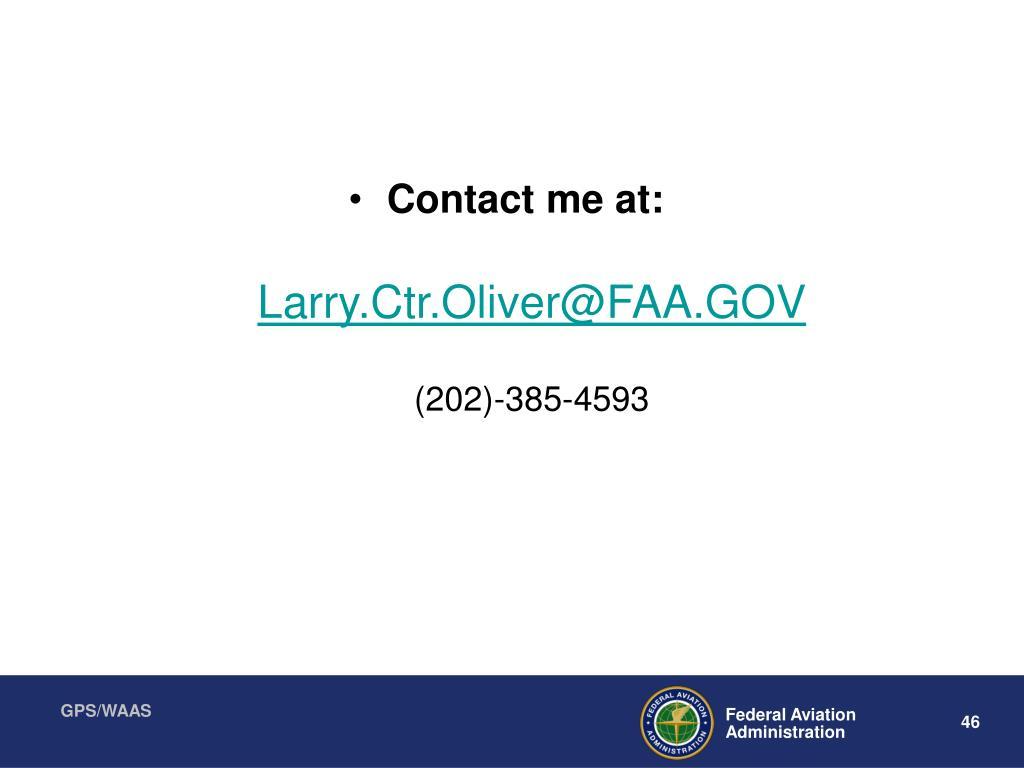 Contact me at: