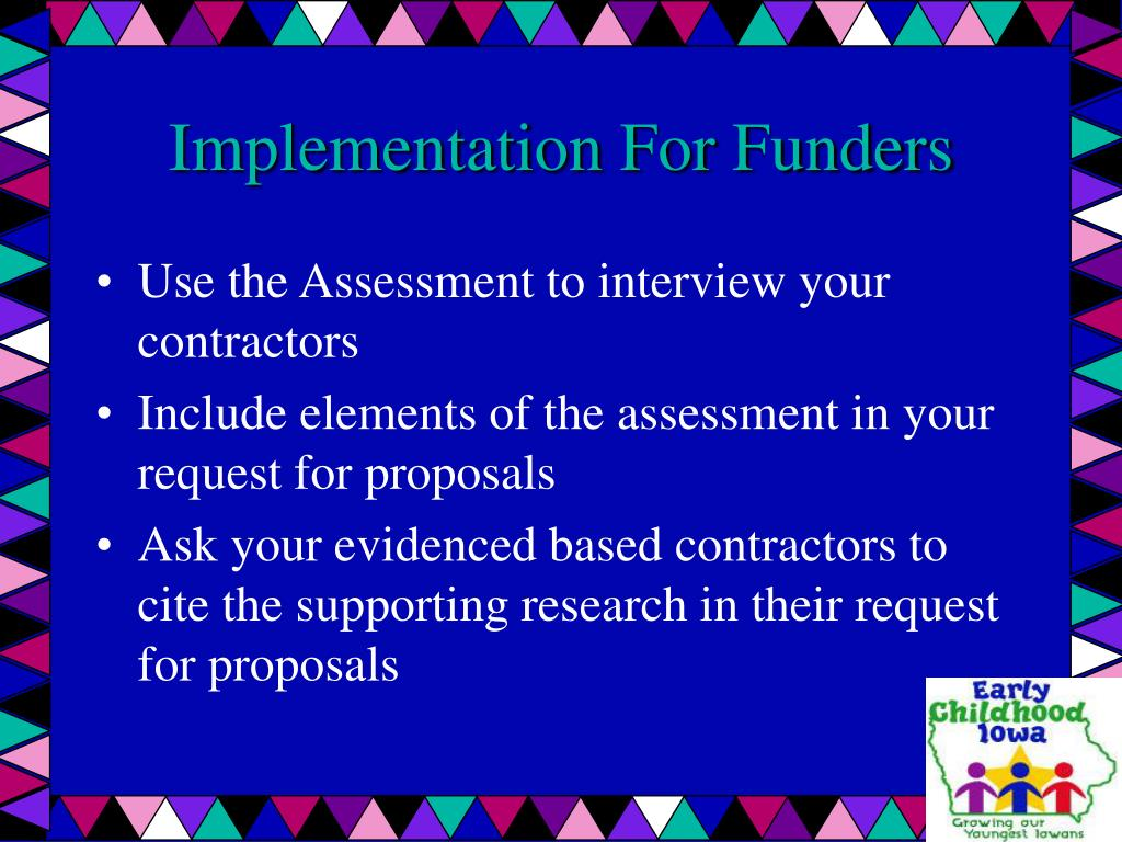 Implementation For Funders