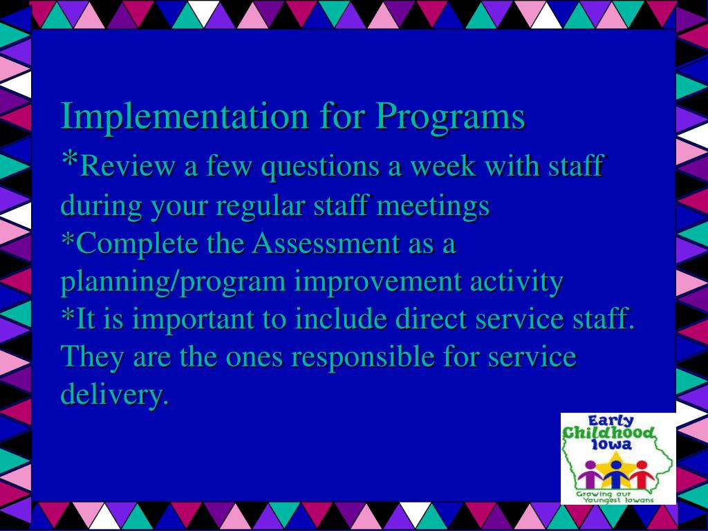 Implementation for Programs