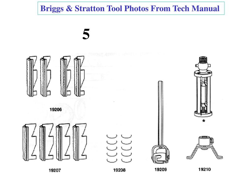 Briggs & Stratton Tool Photos From Tech Manual