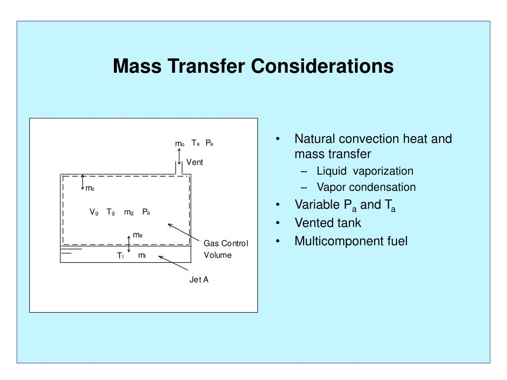 Mass Transfer Considerations