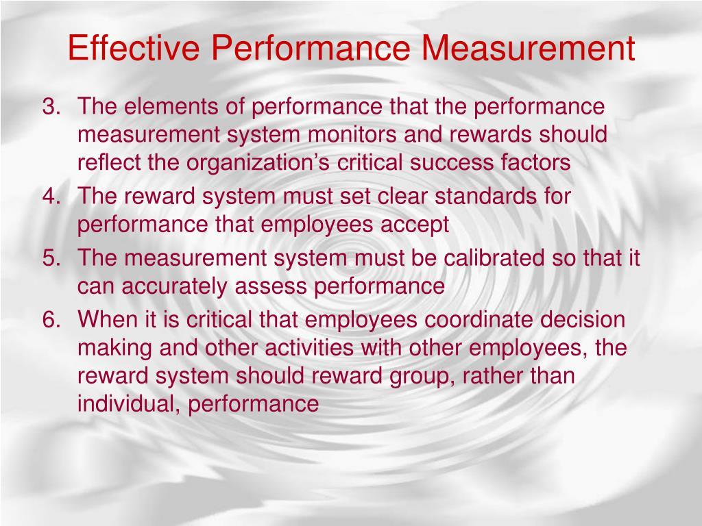 EffectivePerformance Measurement