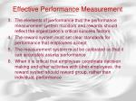 effective performance measurement52