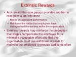 extrinsic rewards