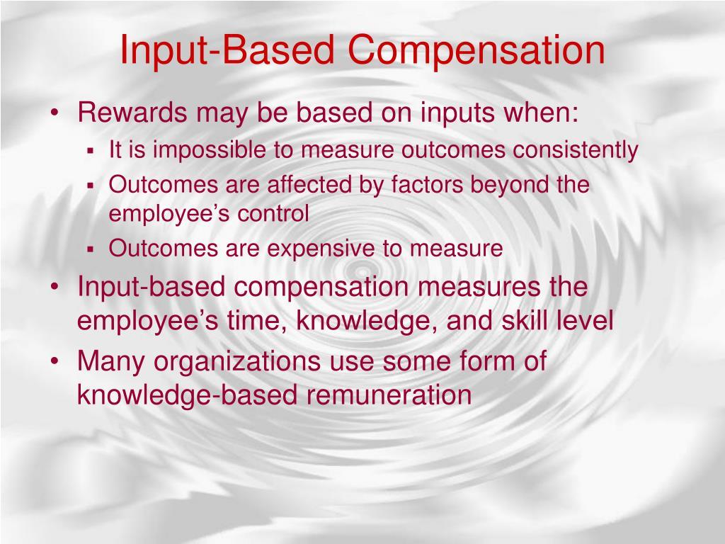 Input-Based Compensation