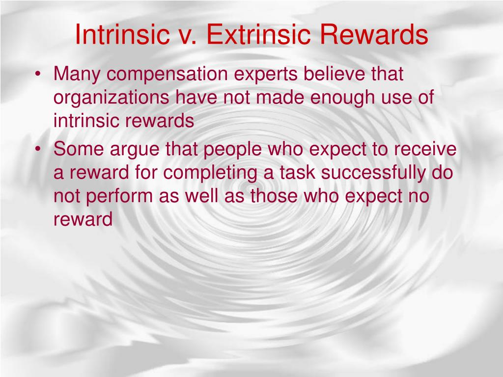 Intrinsicv.ExtrinsicRewards