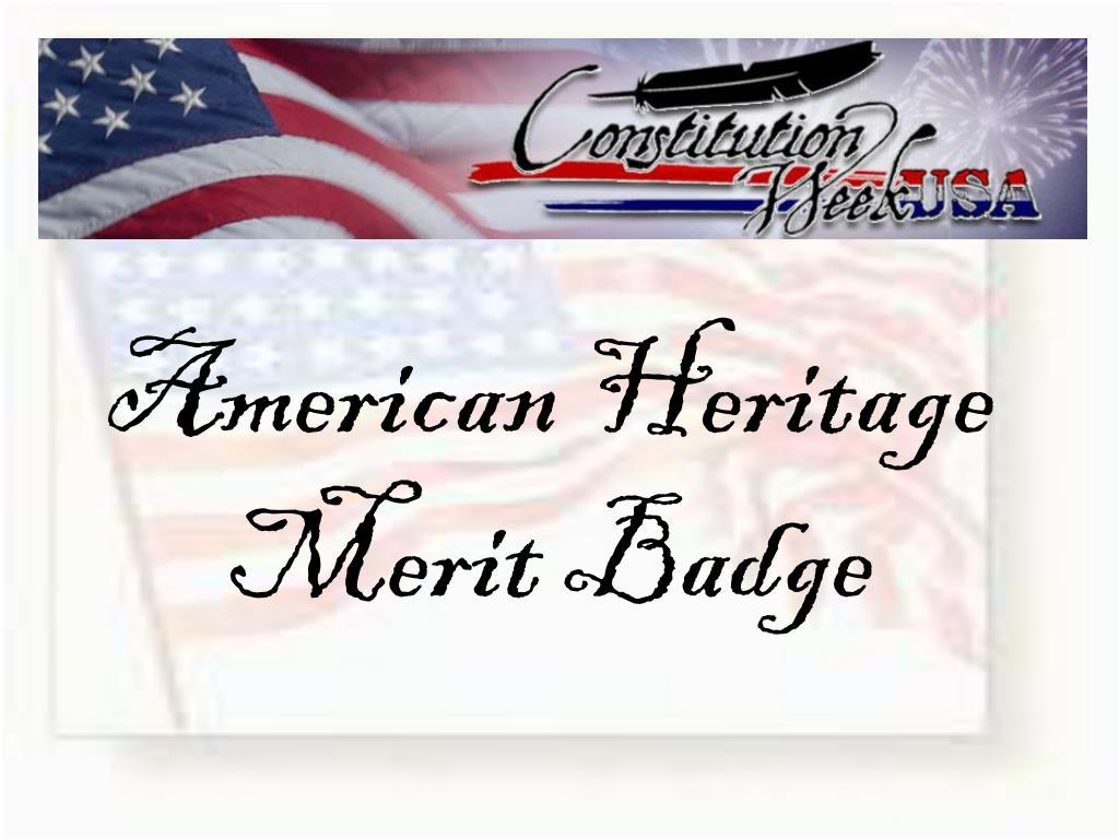 PPT American Heritage Merit Badge PowerPoint Presentation ID – American Heritage Merit Badge Worksheet