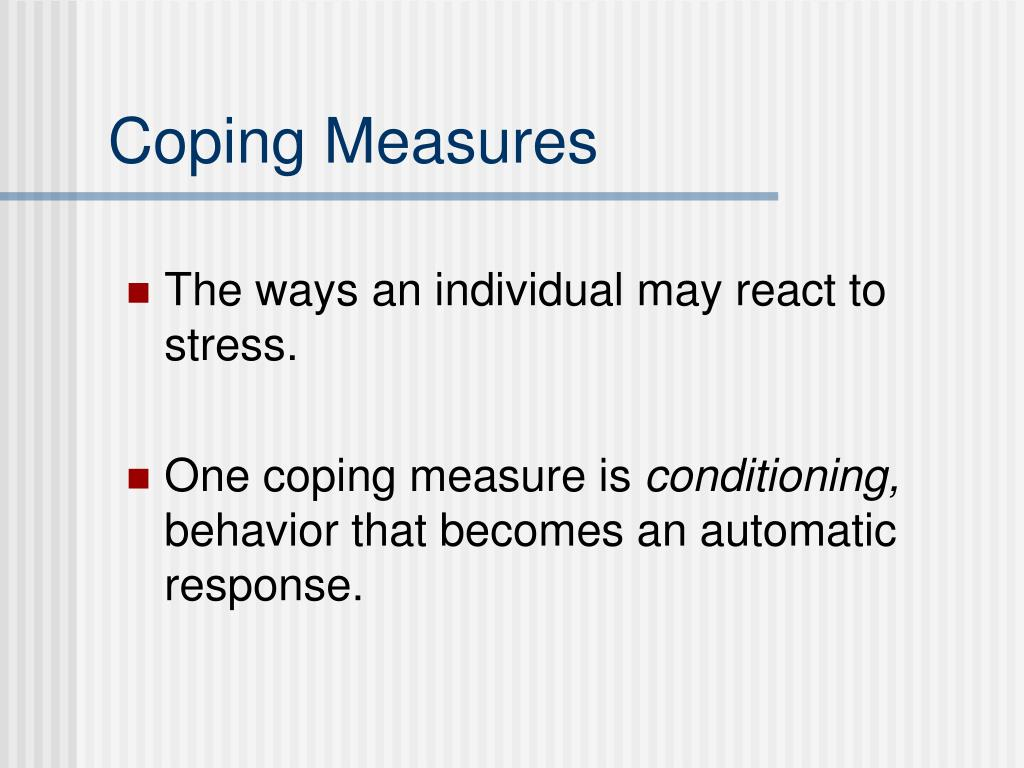 Coping Measures