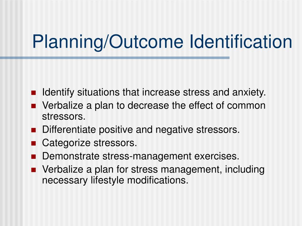 Planning/Outcome Identification