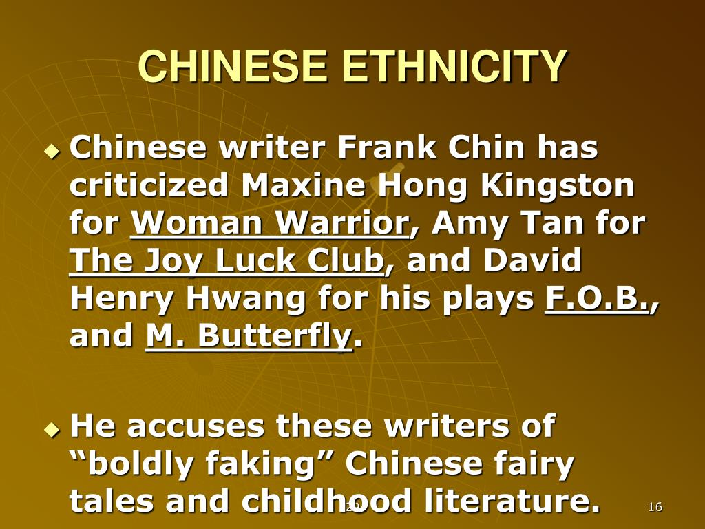 CHINESE ETHNICITY
