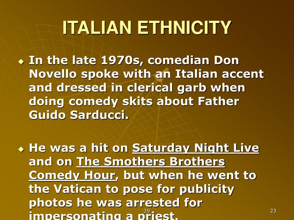 ITALIAN ETHNICITY