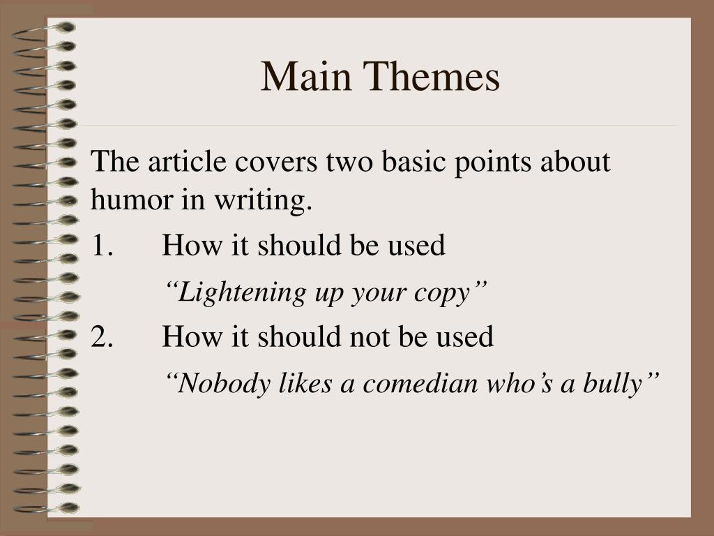 Main Themes
