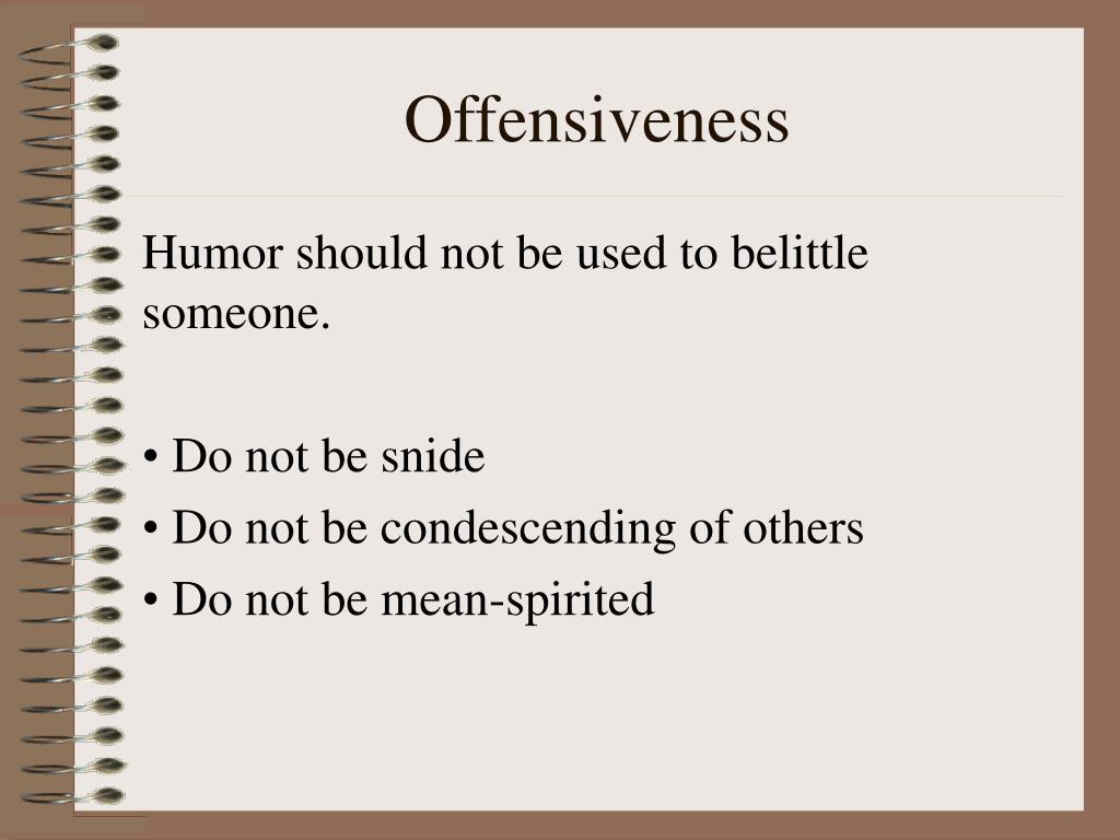 Offensiveness