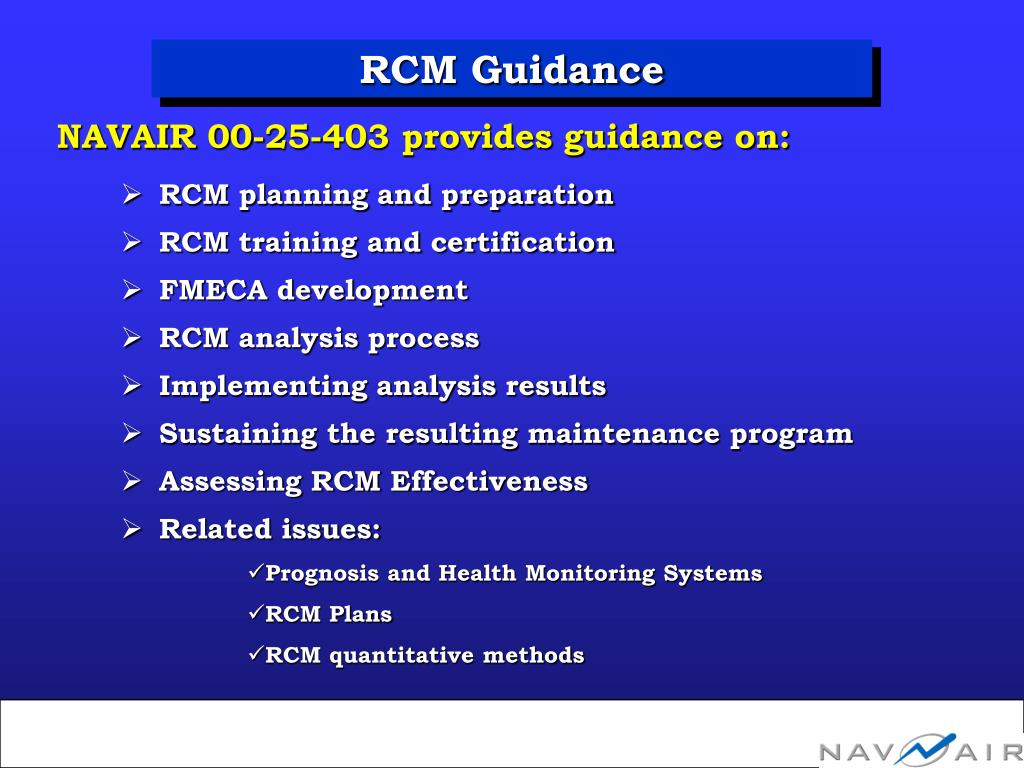 RCM Guidance