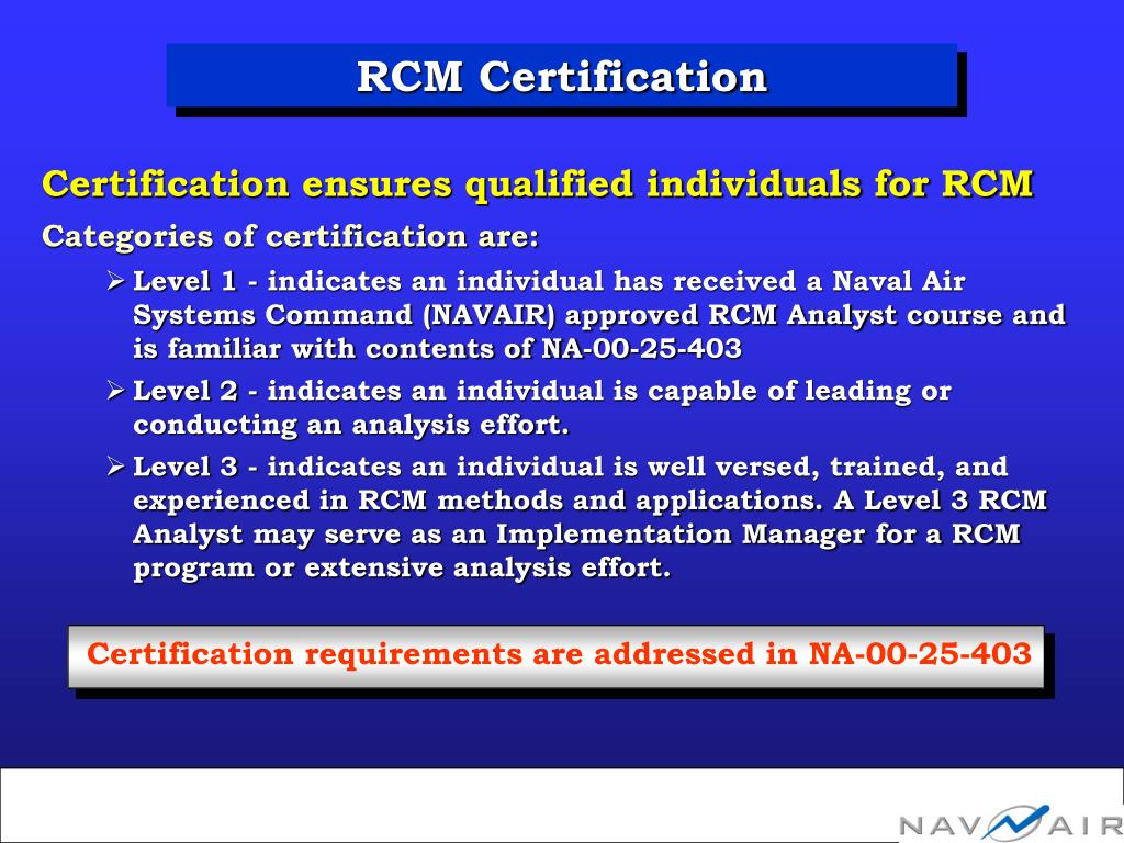 RCM Certification