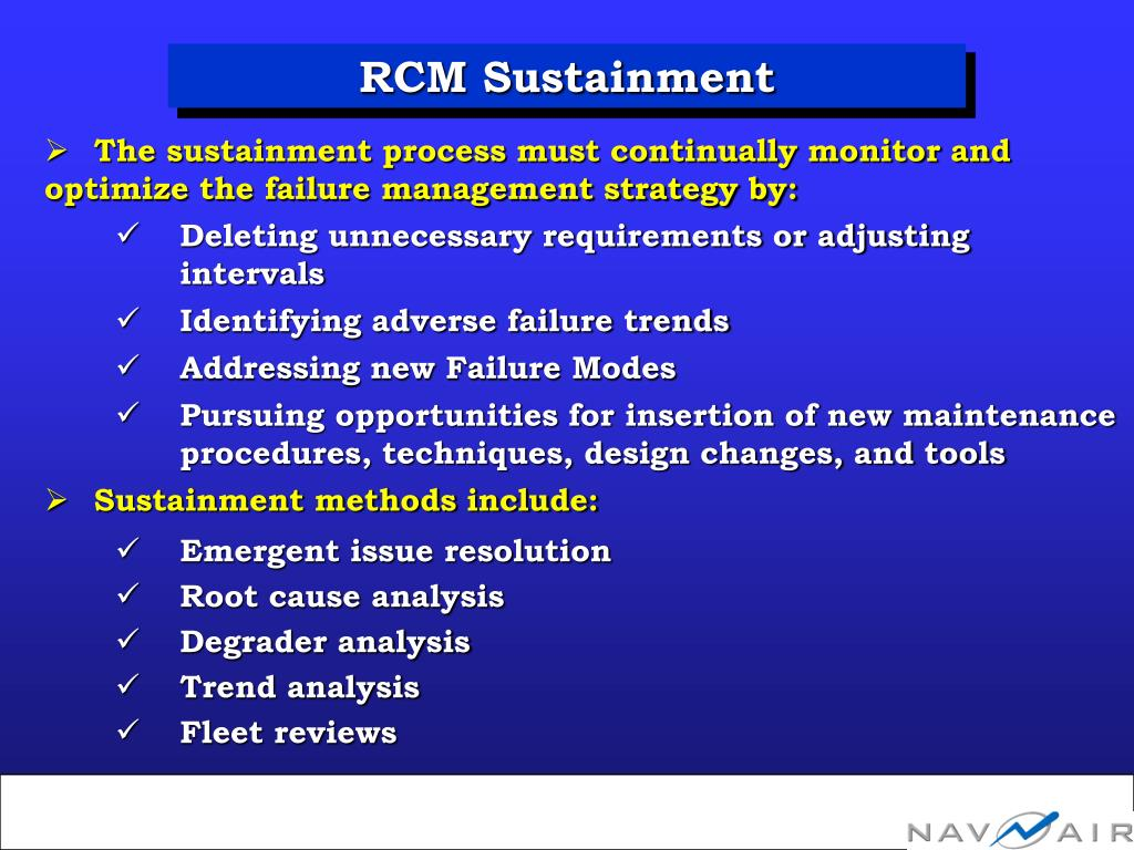 RCM Sustainment