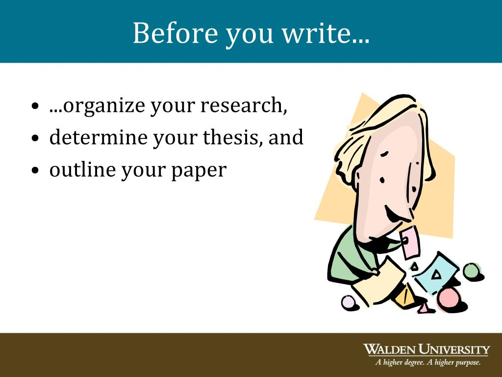Before you write...