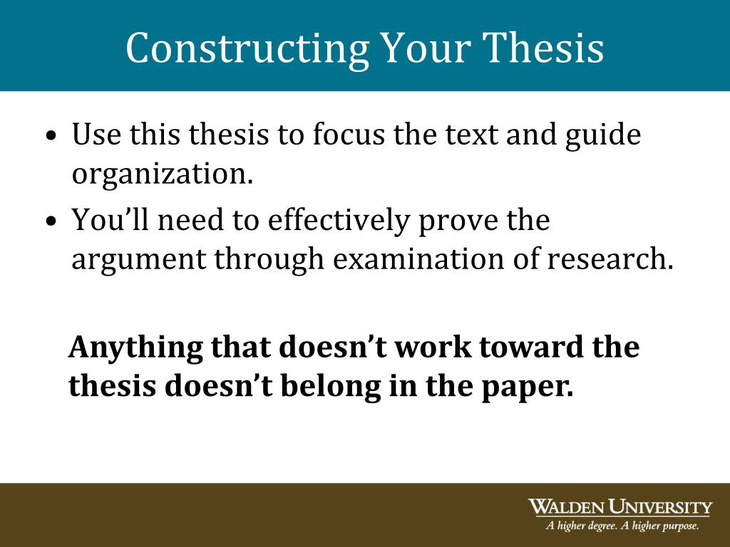 Constructing Your Thesis
