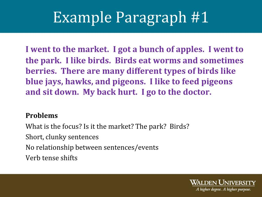 Example Paragraph #1