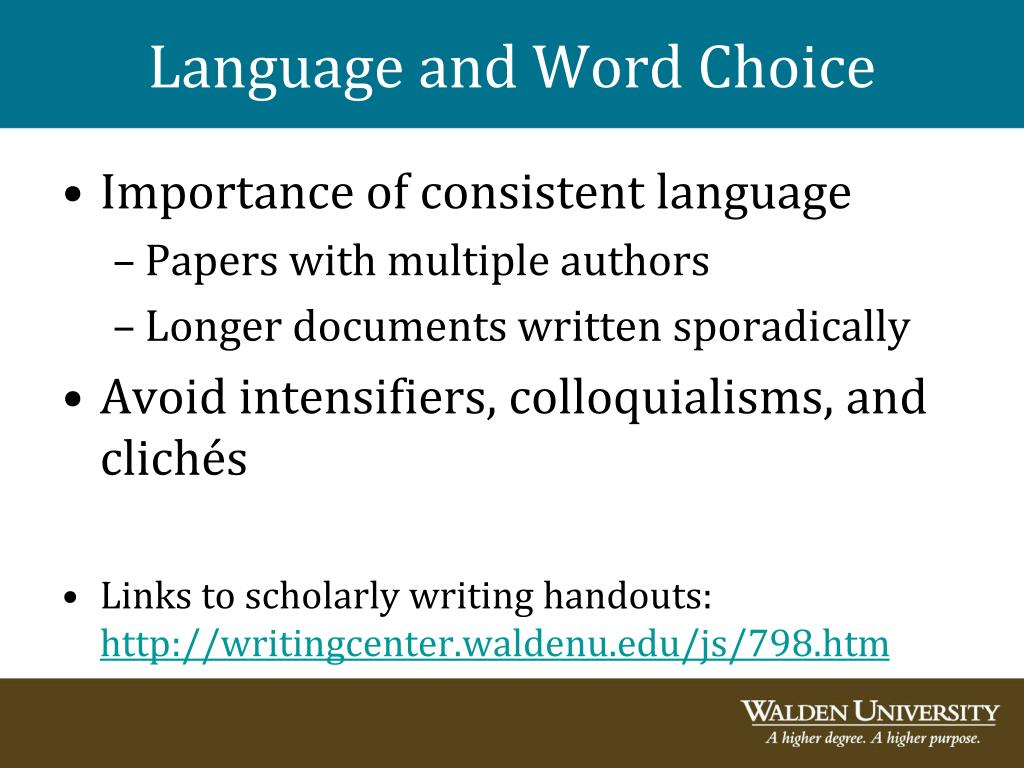 Language and Word Choice