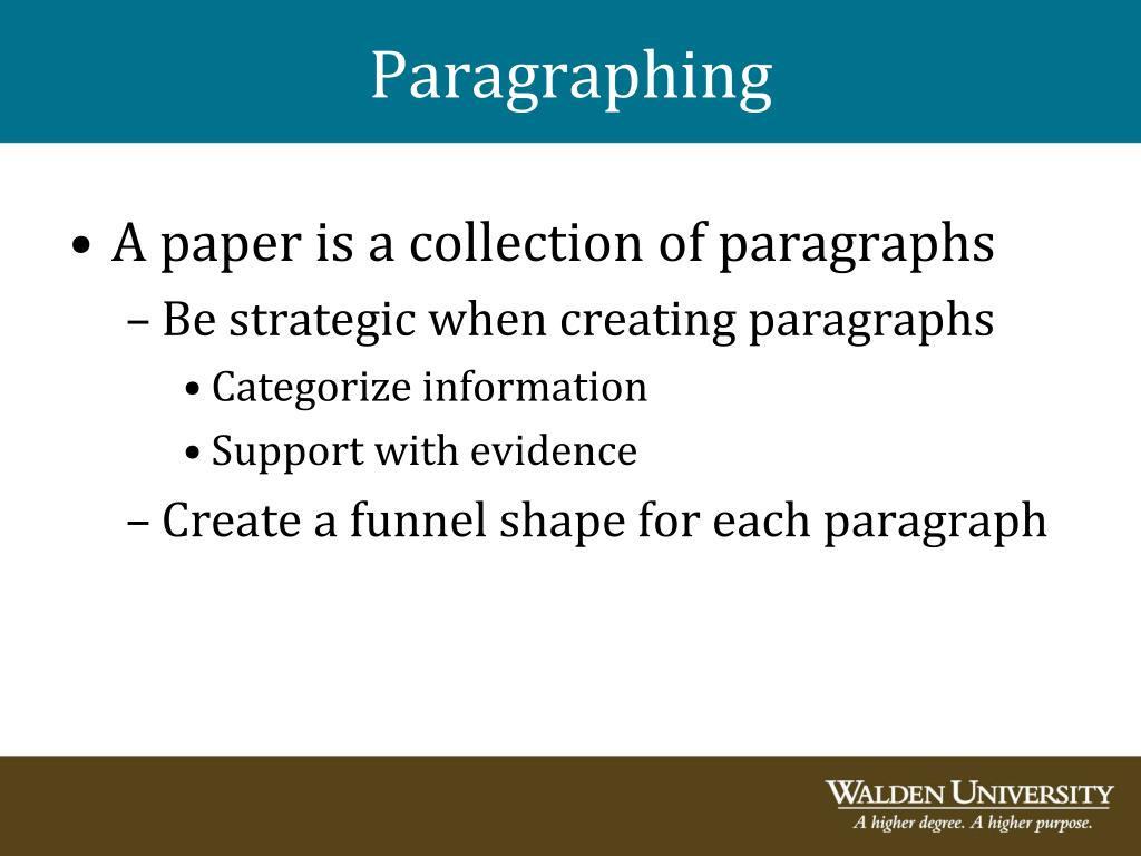 Paragraphing