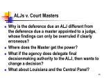 aljs v court masters