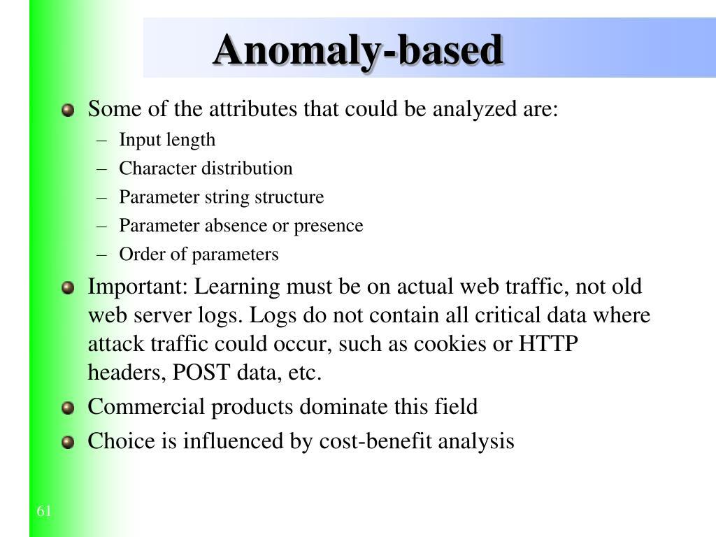 Anomaly-based