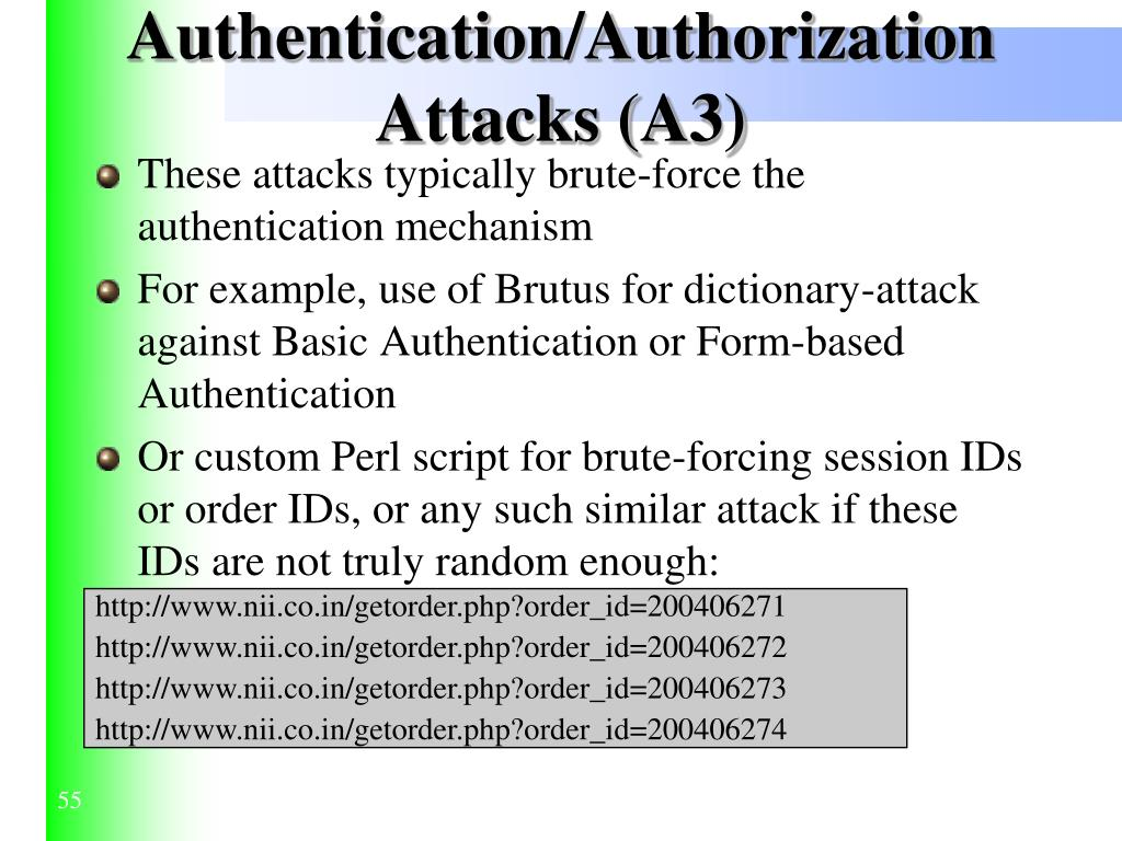 Authentication/Authorization Attacks (A3)