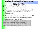 authentication authorization attacks a3