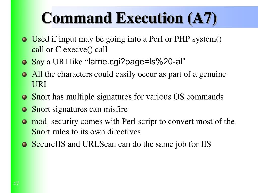 Command Execution (A7)