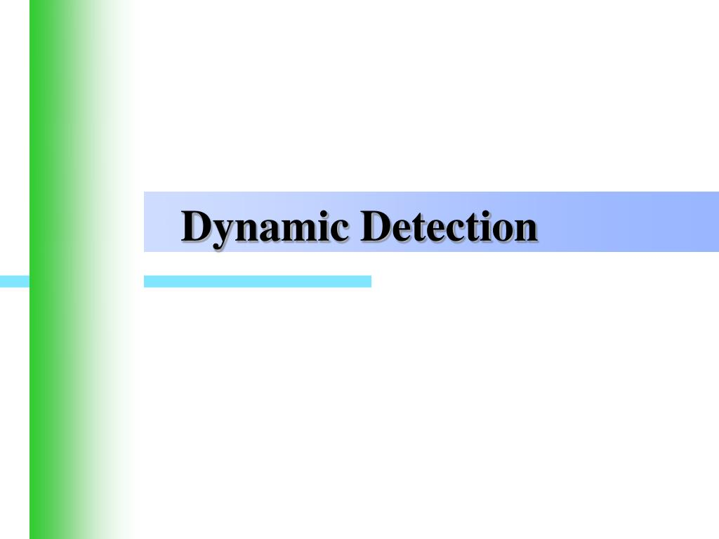 Dynamic Detection