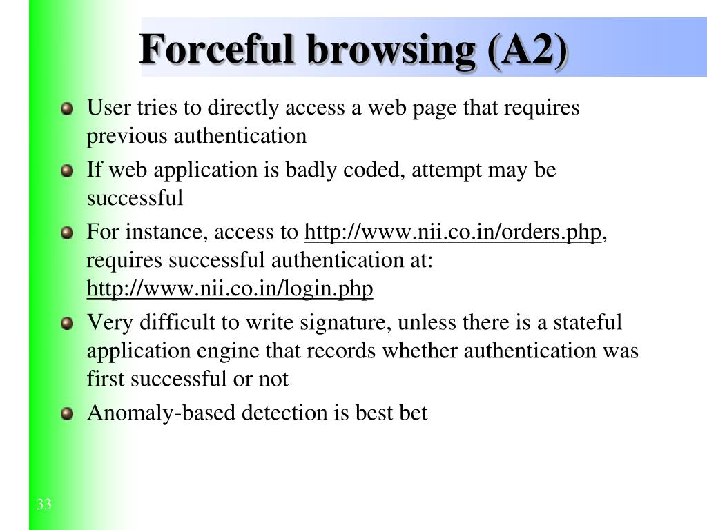 Forceful browsing (A2)