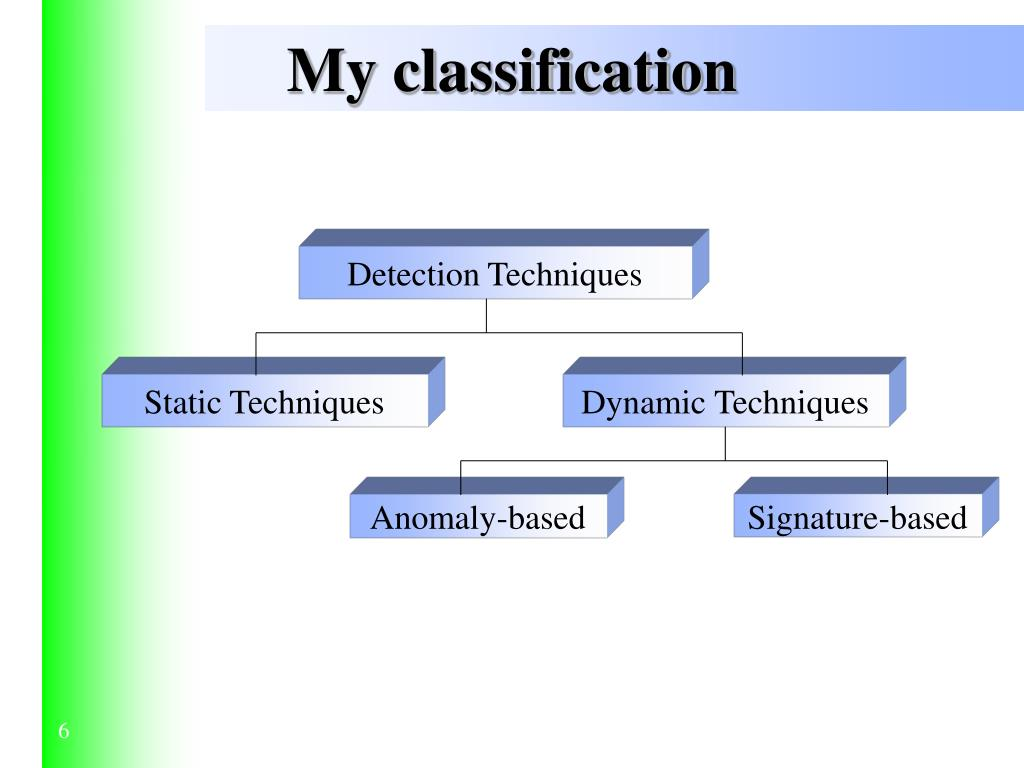 My classification